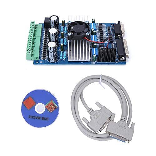 Scheda driver motore passo-passo, scheda guida motore passo-passo a 3 assi 3,5A, macchina per incidere di controllo antomation completamente chiusa per controllo preciso della fresatrice CNC