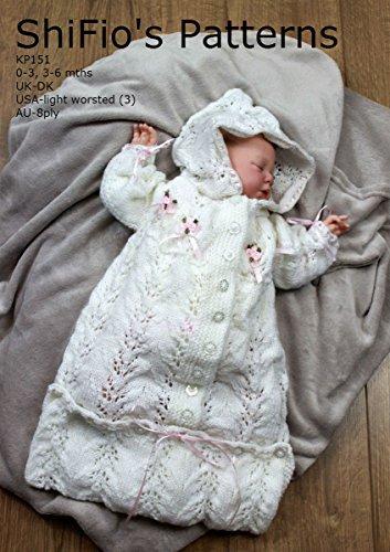Knitting Pattern - KP151 - Baby Sleeping Bag - 0-3mths, 3-6mths - UK Terminology (English Edition)