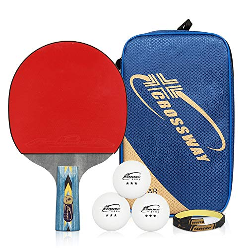 Best Price Professional table tennis racket set, non-slip handle double-sided rubber sleeve high ela...