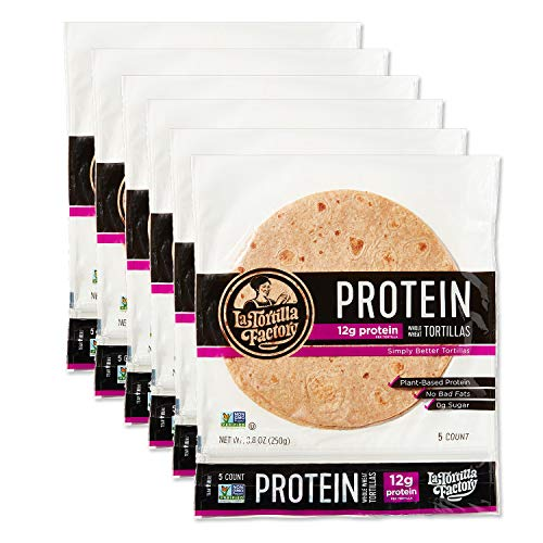 La Tortilla Factory Protein Tortillas, 5-Count, 6 Packages