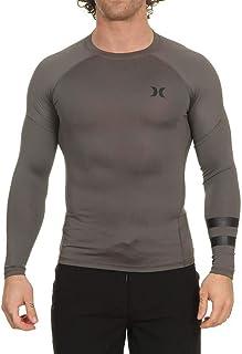 Hurley Men's Long Sleeve Pro Light Quick Dry Sun Protection Rashguard Shirt, Iron Grey