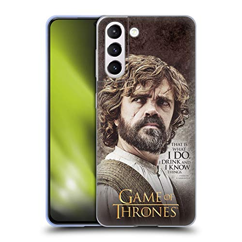 Head Case Designs Officially Licensed HBO Game of Thrones Tyrion Lannister Quotes Soft Gel Case Compatible with Samsung Galaxy S21 5G