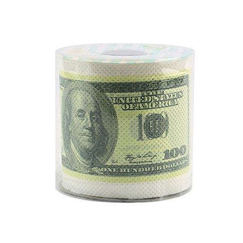 One Hundred Dollar bill Toilet Paper novelty Fun $100TP denaro, rotolo di carta con pesciolini beauty & Health sanitari