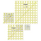 Omnigrid 9-1/2' Square Value Pack Quilting Ruler, Clear