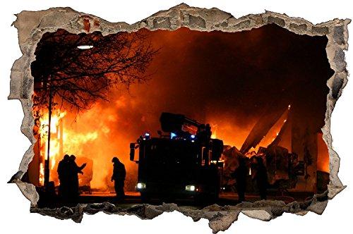 Feuerwehr Feuer Rauch Wandtattoo Wandsticker Wandaufkleber D1105 Größe 40 cm x 60 cm