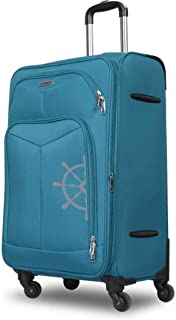 "NOVEX Canyon Polyester 55 cm Soft Trolley Luggage (Turquoise, 20"")"