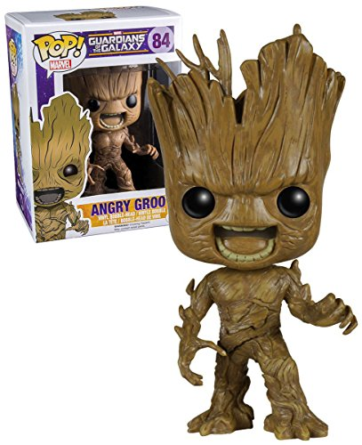 Funko 017681 Pop Movies : Guardians of The Galaxy Angry Groot 84 Figurine Bobble Head