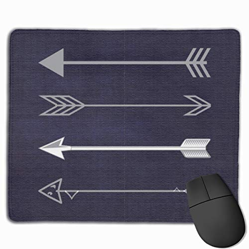 Gaming Mouse Pad,Gray Arrows On Navy Blue Background Durable Non-Slip Rubber Base Mouse Pad Mat for Computer Laptop PC Office Home 9.8 X 11.8 Inch