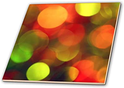 White 3dRose Stamp City Photograph of Bokeh Christmas Lights in red and Green Holiday - T-Shirts