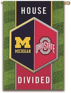 Team Sports America NCAA House Divided Suede House Flag