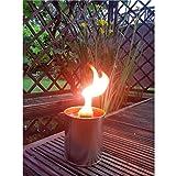 Krause & Sohn Partyfeuer - Gartenfackel 5 Std. Brennzeit als Flammenschale auch zum Anzünden von Fackeln … (6)
