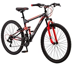 Aluminum MTB frame with Hydro formed tubing and a powerful front suspension fork is strong and reliable 21 speeds with a Shimano rear derailleur makes for smooth gear changes on every ride Front and rear v brakes ensure quick stops out on the trail L...