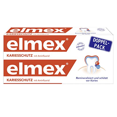elmex KARIESSCHUTZ Zahnpasta, 3er Doppelpack (3x2x75ml)