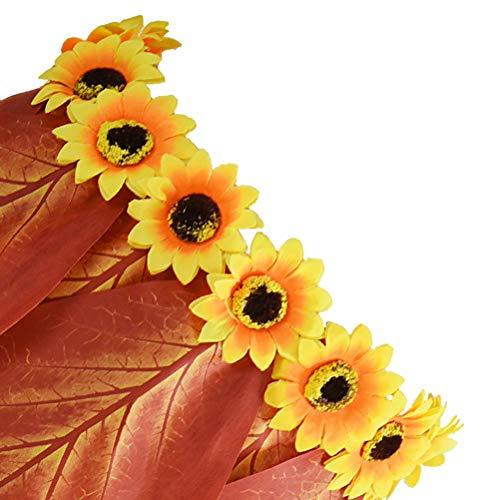 Amosfun Falda de Hojas Hawaiana con Flores Artificiales para ...