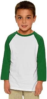 toddler green and white raglan