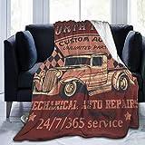Qtchenglj Cómoda Manta Fina de Forro Polar,arañazos de North Truck en una Capa separada,Suave y cómoda para sofá,Dormitorio,Viaje,Aire Acondicionado,Manta 60'X 50'