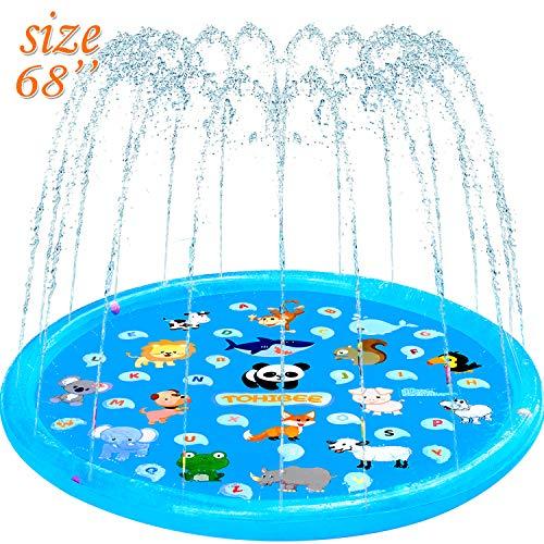 TOHIBEE Splash Pad, Sprinkler for Kids & Baby Pool, 68'' Outdoor Water Toys Wading Pool for...