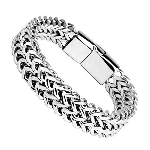 KAHD Armband Magnet Button Bracelet Doppelreihen-Positiv- Und Anti-Magnet-Knopfarmband Für Herren