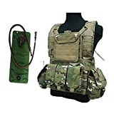 ATAIRSOFT Tactical Airsoft Hunting Military MOLLE Vest with Hydration Water Reservoir Multicam((MC)