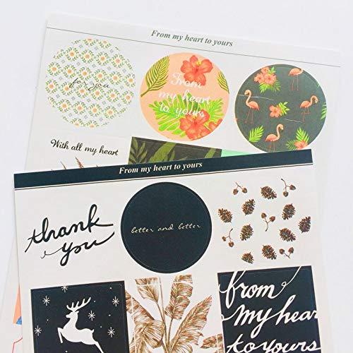 BLOUR 2 Blätter/Packung Elegant Best Wishes Papier Hand Account Notebook Dekorative Sticker Stick Label