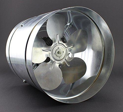 Ventola canalizzata con 210 mm di diametro, conforme a IP44, con portata di 405 m³/h WK, a bassa pressione con condotto assiale, valvola radiale ATOR in metallo