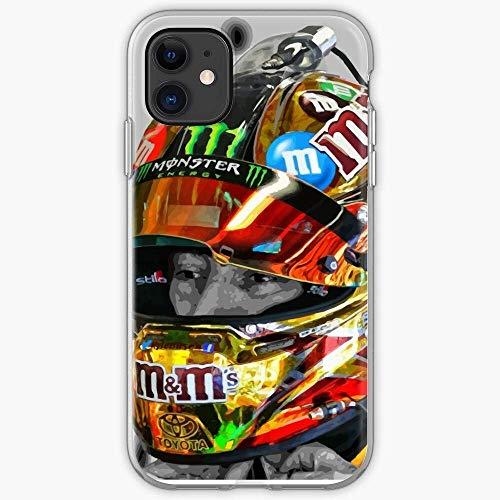 Compatibile con iPhone 12/11 PRO Max 12 Mini SE X/XS Max XR 8 7 6 6s Plus Custodie Gibbs Joe Nascar Kyle Drivers Helmet Motorsport Racing Busch MMS Custodie per Telefoni Cover