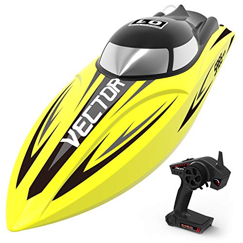 VOLANTEXRC Brushless RC Boat Vector SR65 40mph High-Speed with Self-righting & Reverse Function Ready to Run for Kids or Adults (792-5)