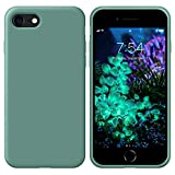 """OUUZ iPhone SE 2020 Case,iPhone 8 Phone case,iPhone 7 case Liquid Silicone Gel Rubber Phone Case,iPhone SE 2020/8/7 4.7"""" Full Body Slim Soft Microfiber Lining Drop Protective Case (Forest Green)"""