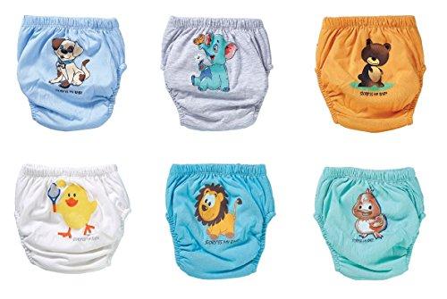 OZYOL Trainerhosen für Tröpfchentraining 6er Pack - Wiederverwendbare Kleinkinder Windelhosen Lernwindeln Trainerwindeln Baby Unterwäsche zum Sauberwerden Toilettentraining (Tiere Junge, 80)