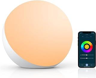 چراغ رومیزی هوشمند ، چراغ خواب برای اتاق خواب با Alexa و Google Home ، چراغ لمسی تغییر رنگ RGB Dimmable و چراغ لمسی سفید نور شب قابل تنظیم برای کودکان ، چراغ رومیزی برای اتاق نشیمن