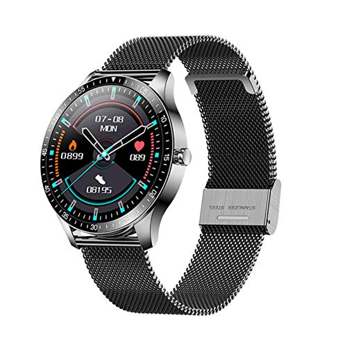 LJMG 2021 New Smart Watch S80 Bluetooth Watch IP68 Impermeable Fitness Tracker Rate Toote Sleep Monitoring Smart Watch para iOS Y Android,G