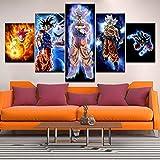 WLQQ Personnalisé Dragon Ball Goku Vegeta Image/Photo sur Toile Art Mural Impression...