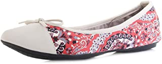 Womens Holly Red Brocade Fold Up Ballet Pumps Shoes Size