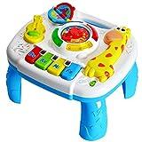 HERSITY Musikspielzeug Spieltisch Baby Lerntisch Aktivität Tisch mit Licht und Sound Activity Table Musikalische Früherziehung Baby Spielzeug ab 18 Monaten Geschenk für Kleinkinder Kinder