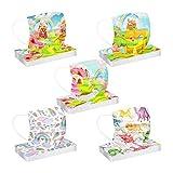 BurBurly - bambini 50 Pezzi Simpatica Stampa di cartone animato Antipolvere Visiera Bocca Faccia e Getta 3 Strati Adatto per Bambino (I)