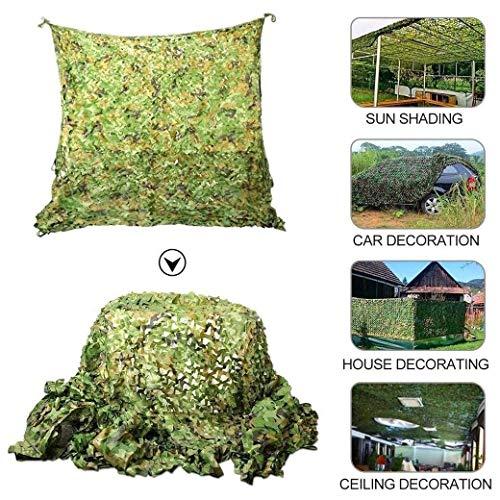 Nfudishpu Filet Camouflage, Parapluie Camping en Filet Camouflage, Maille terrasse Protection Solaire, Voile Voiture protéger Les Plantes Vertes dans Les Jardins