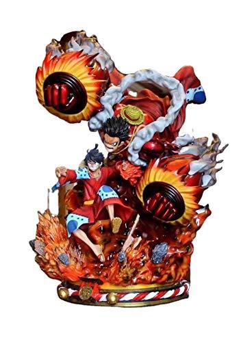 Liiokiy 52cm Anime Figure One Piece Figure Monkey D Luffy Gear Cuarta goma Caucho Kong Figura de...
