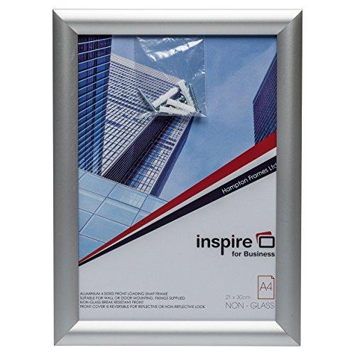 Hampton Frames SNAP Cadre photo pour poster Argenté A4 (21 x 30 cm)