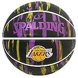 SPALDING バスケットボール 2019 NBA レイカーズ マーブル ブラック ラバー 7号球 84-095J バスケ バスケットボール 84-095J