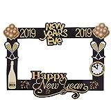 Amosfun Photo Anno Booth Puntelli Photo Frame 2019 Felicità Capodanno Forniture per Feste