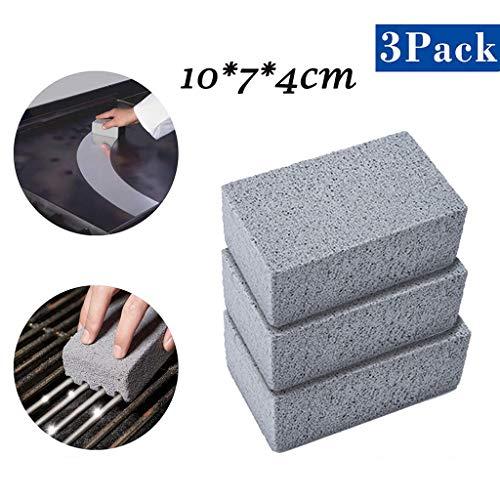 Muium(TM) 3 unidades de piedras de limpieza para parrilla, ladrillos para limpiar...