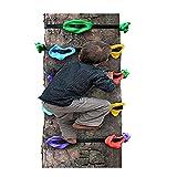 HSJCZMD Niños Muro de Escalada, Escalada al Aire Libre Sostiene Los niños de Escalada de Rocas configurado Columpio para niños Fácil de AssembleTree Escalada Herramienta,Package A