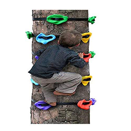 HSJCZMD Bambini Palestra di Roccia, rampicante Esterno Contiene Bambini Arrampicata su Roccia Set Struttura per arrampicarsi per Bambini accessibili AssembleTree Climbing Strumento,Package A