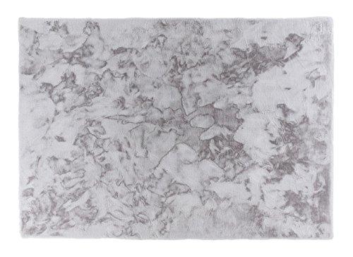 Schöner Wohnen Tender Kunstfell-Teppich 150x80 Silber