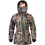 NEW VIEW Hunting Jacket for Women,2020 Upgrade Silent Water Resistant Hunting Jackets,Camo Hooded Jacket (M, Camo Tree)