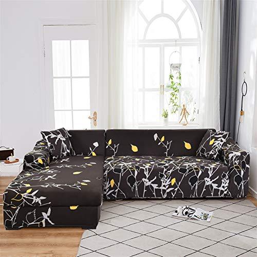 Einfach zu installierender und bequemer Sofa Sofa-Abdeckung, Ecksofaabdeckungen für Wohnzimmer L Sofa-Cover Stretch Slipcover Couch Cover Separated Design (L-Form muss 2 Stück kaufen)