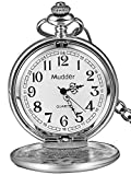 clásico Lisa Vintage Plata Acero Mens Pocket Watch