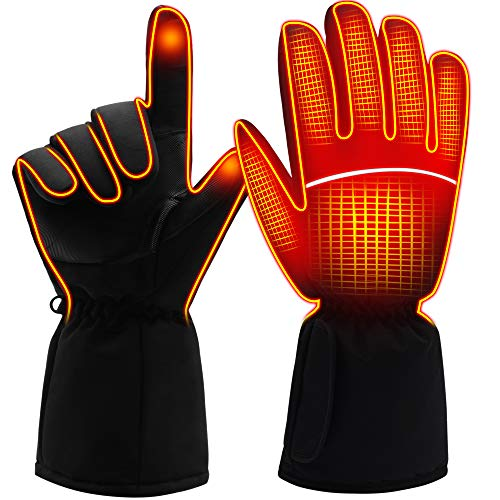 MMlove Heated Gloves Winter Warm Gloves Rechargeable Batteries Heating Gloves Hot Hand Warmers for Men Women 4.5V Large