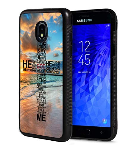 Galaxy J7 2018/J7 V 2018/J7 Refine/J7 Star Case, Slim Anti-Scratch TPU Rubber Protective Case Cover for Samsung Galaxy J7 2018 - God Jesus Christian Cross