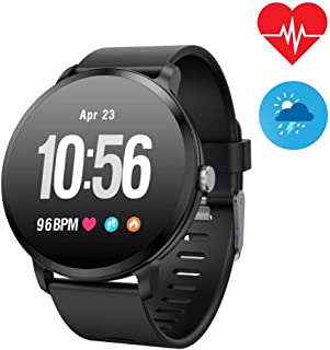 WELTEAYO Fitness Tracker Smart Watch, Activity Tracker with Heart Rate Monitor,Color Screen Fitness Watch with Call Reminder Sleep Monitor Blood Pressure Monitor Step Counter (V11-Black)